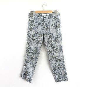 Anthropologie Hei Hei Floral Camo Slim Pants Green